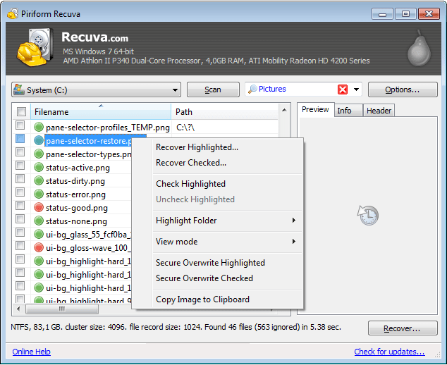 Piriform Recuva 1.52 Registration-Key Download