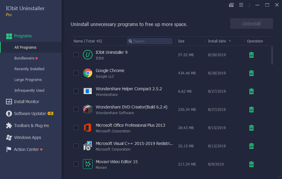 IObit Uninstaller Pro 9.3.0.11 Full download