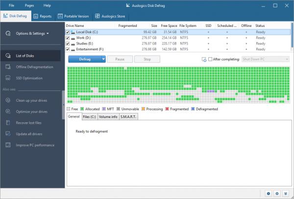Auslogics Disk Defrag Pro Patch & Serial Key Tested Free Download