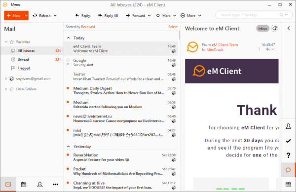 eM Client Pro Full Patch & Serial Key Tested Free Download
